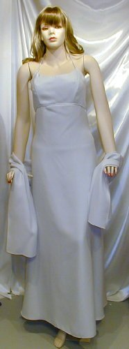 New Formal Gown MOB Bridesmaid Prom W/Wrap Cruise Sz 8 #739
