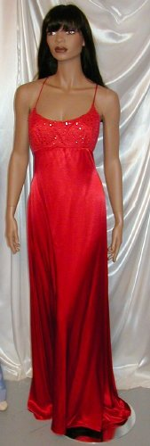 Red Hot Glamorous Formal Gown Cruise Dance New Sz. 10 #979
