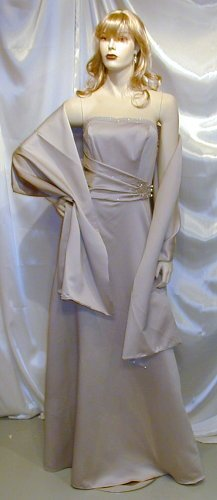 Glamourous Formal Gown Prom Theatre W/Wrap Bridesmaid Size 10 #641