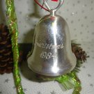 1984 CHRISTMAS BELL ORNAMENT SILVERPLATED REED & BARTON BELL