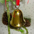 CHRISTMAS BELL ORNAMENT GOLDPLATED REED & BARTON BELL ENGRAVABLE