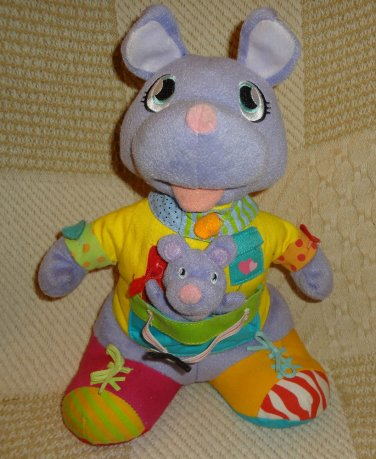 Mommy & Me Kangaroo Learn To Dress Myself Plush Stuffed Toy Activity Animal 12""