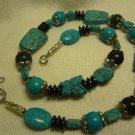 Turquoise Western Necklace Onyx Hematite Beaded Necklace Gemstone Jewelry New