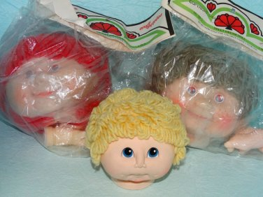 Darice Sweet Dreams Yarn Hair Doll Heads Hands Doll Making Repair Supplies Lot 3