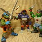 2003 Teenage Mutant Ninja Turtles Action Figures W/ Weapons Playmate Toys Lot 3
