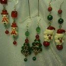 Mini Christmas Ornament Earrings Handmade Bead Dangle Earrings New Jewelry