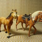 VINTAGE METAL HORSES STATUE EQUESTRIENNE MINIATURE STANDING FIGURES JAPAN LOT 2