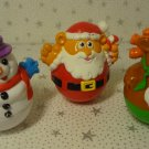 Christmas Ornament Hasbro Playskool Toys Santa Snowman Reindeer Lot 3