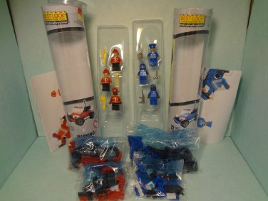 Best Lock Construction Toys Police Firemen Cars Tools 2 Complete Sets New Packs