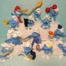 Mcdonalds Smurfs Figures 2011 &  2013 Mix Lot 13