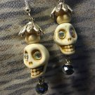 Skull Earrings Dangle Handmade Day Of The Dead Swarovski Crystal New Jewelry