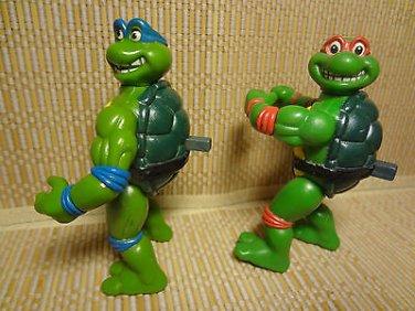 Rare 1992 Teenage Mutant Ninja Turtles Action Figures Pop Out Eyes Spin Head HTF