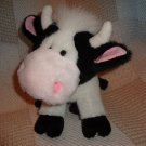Black White Baby Dairy Cow Calf MOLLY Plush Stuffed Animal 11""