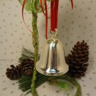 WEDDING CHRISTMAS BELL ORNAMENT SILVER PLATED REED & BARTON BELL