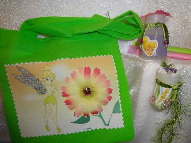 Tinkerbell Fairy Girl Birthday Party Favors Goody Treat Bag Dust Bubbles lot 10