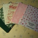"100% Cotton Floral Fabric Quarter Flats JO-ANN Quilting Craft 6 Styles 18""x22"""
