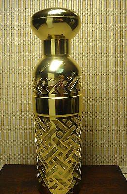 HTF Vintage SHALIMAR GUERIAN Perfume  Eau de Toilette Gold Tone Refillable Case