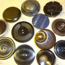 Vintage Celluloid Tight Top Buttons Natural Sewing Craft MIX LOT 12 pcs