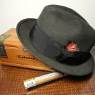 Stetson Men's Royal Felt Fedora Hat Size 7 1/4 Color Graphite Dark Gray