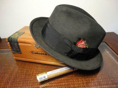 Stetson Men's Royal Felt Fedora Hat Size 7 1/4 Color Graphite Dark Gray