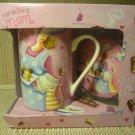 Kent Pottery Marvellous Mum Coffee Cup Ceramic Mug Lid Coaster 12 Oz NIB