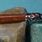 Chakra Reiki Pendant Goldstone Quartz Crystal Point Gemstone Sterling Silver
