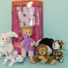 Only Hearts Lil Kids Doll Sleeping Bag Melody Dog Teddy Bear Animals lot