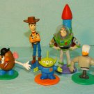 Disney Toy Story PVC Toy Figures Cake Toppers Lot 5