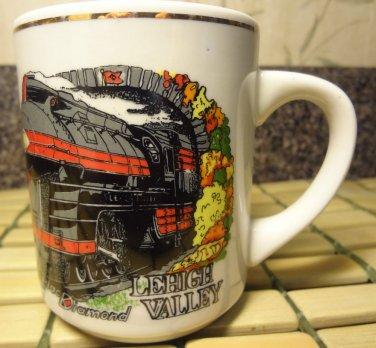 Lehigh Valley ONE PAINTED LOCOMOTIVE LOCO TRAIN CERAMIC Coffee TEA LATTE Mug Cup