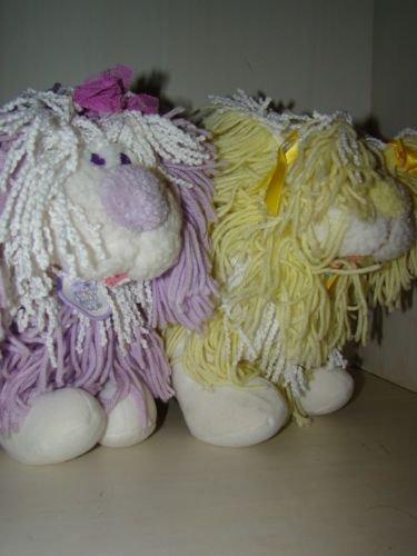 Vintage 1986 Fluppy Dog Plush Stuffed Animal set lot Kenner Disney