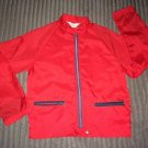 1950s Red Surfer Nylon DRIZZLER   JACKET WINDBREAKER Japan Size S