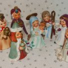 Vintage Christmas Nativity Set Josef Original Figures Ceramic Japan