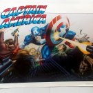 LOT OF 3 CAPTAIN AMERICA POSTERS FROM 1989 MARVEL COMICS VINTAGE AND RARE!