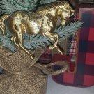 Hartland Ornament Regal Quarter Horse OOAK gold