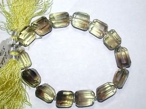 "COGNAC QUARTZ 8 1/4 INCH  STRAND OF QUALITY GRADE ""A""  BEADS"