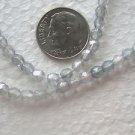 200 CLEAR WITH SHADOW EFFECT 4mm  FACETED GLASS  BEADS ~Z9