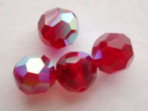40 GENUINE SWAROVSKI 5000 SIAM AB 6MM CRYSTAL ROUND FACETED BEADS ~ s19