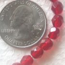 125  RED  6mm FACETED CZECH  GLASS  BEADS ~Z2