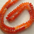 ~ SHADED CARNEALIAN 3-4mmX5mm FACETED ROUNDELLE   SEMI PRECIOUS  BEADS ~ sp518