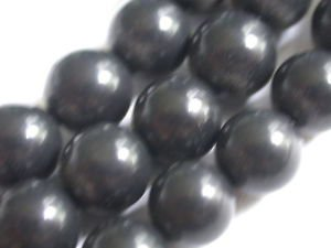 ~ BLACK ONYX 8mm ROUND  SEMI PRECIOUS STONE BEADS ~ sp23b