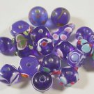 19 COLBOLT WITH COLORED ACCENTS LAMPWORK GLASS  BEADS    LOT ~A34