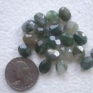 20 MOSS AGATE FACETED 10mmX8mm SEMI PRECIOUS BEADS ~ Z54A