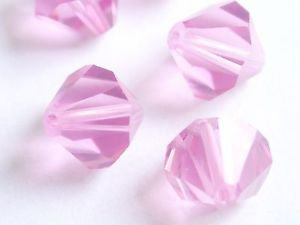 20 GENUINE SWAROVSKI  5301 ROSE 10 MM CRYSTAL BEADS ~~ 6
