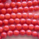 ~ SHADED RED CORAL  6mm ROUND  SEMI PRECIOUS  BEADS ~ sp545