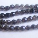~ SMOKEY QUARTZ 6mm ROUND FACETED  SEMI PRECIOUS STONE BEADS ~ sp92