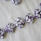 ~ 6 ACRYLIC & MOTHER OF PEARL 25mm ON DIAGONAL FOCAL SEMI PRECIOUS BEADS~ spf116