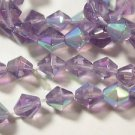 120 LIGHT PURPLE AB BICONE GLASS  BEADS   6.5 mm   LOT ~A76
