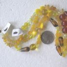 130 YELLOW TO BROWN MIX 3mm TO 20mm  GLASS  BEADS ~Z79E