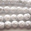 ~ HOWLITE 8mm FACETED  ROUND  SEMI PRECIOUS  BEADS ~ sp596