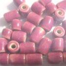 30 ROSE 7mmX8mm To 11mmX8mm  CERAMIC  BEADS ~ F310